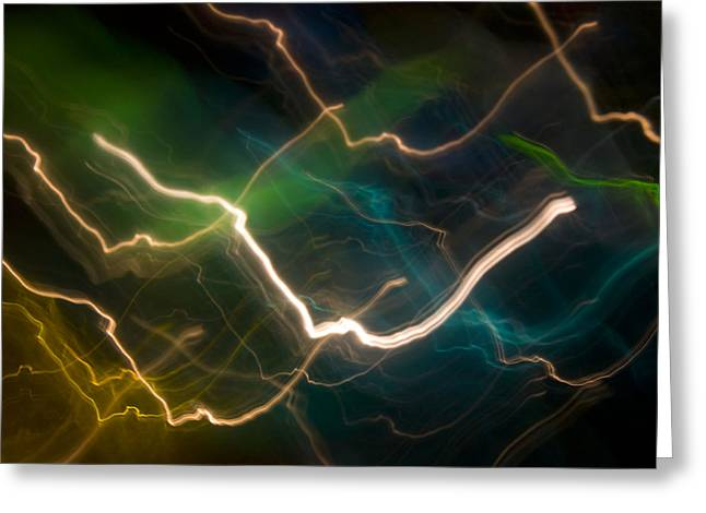 Electrical Storm Greeting Cards - Photon Dance Greeting Card by Barbara  White