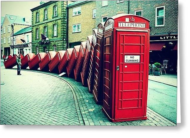 Greeting Cards - #photooftheday #london #british Greeting Card by Ozan Goren