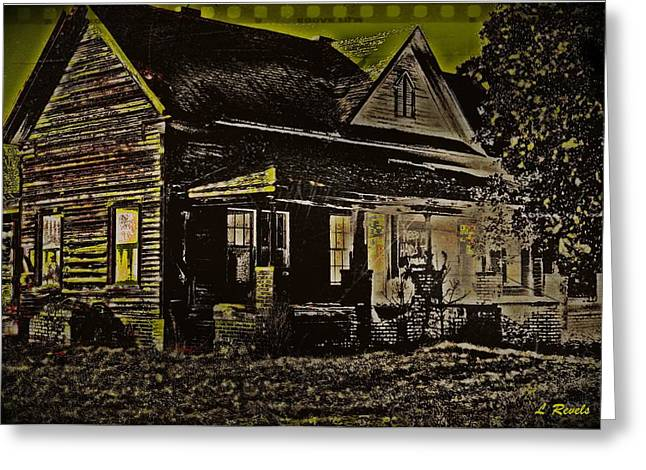Photos in an Attic - Homestead Greeting Card by Leslie Revels Andrews