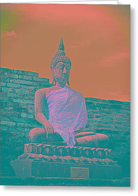 Wat Sculptures Greeting Cards - Photos Greeting Card by Thosaporn Wintachai