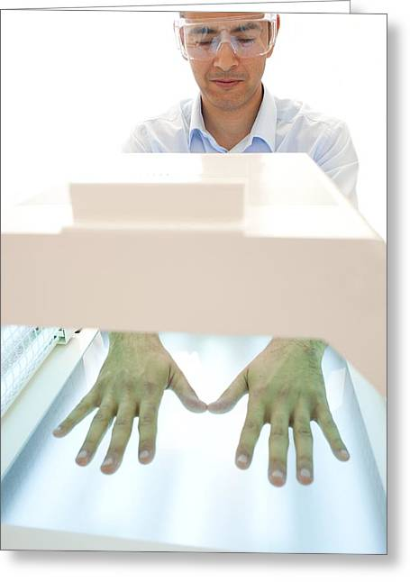 Dermatology Department Greeting Cards - Phototherapy Greeting Card by