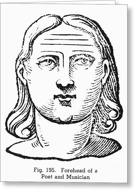 Physiognomy Greeting Cards - Physiognomy, 1637 Greeting Card by Granger