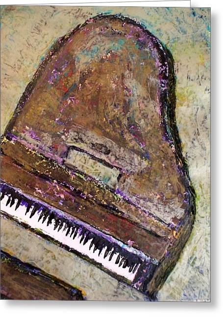 Grand Piano Greeting Cards - Piano in Bronze Greeting Card by Anita Burgermeister