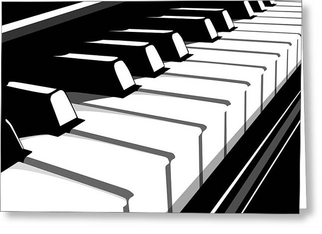Rock And Roll Greeting Cards - Piano Keyboard no2 Greeting Card by Michael Tompsett
