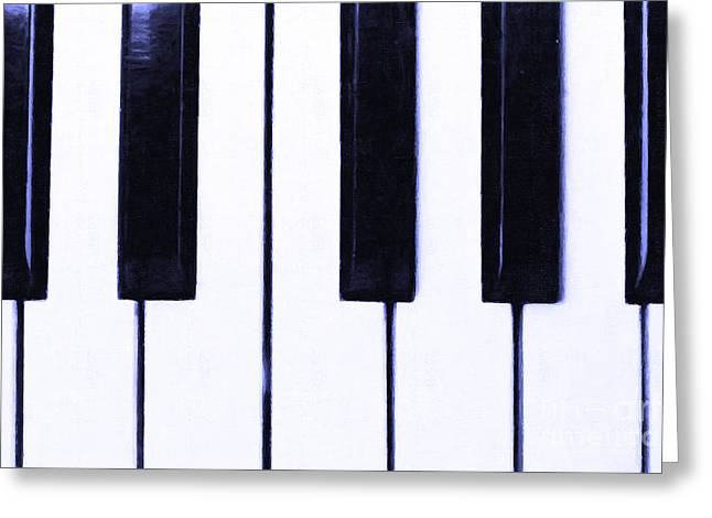 Wood Instruments Greeting Cards - Piano Keys Greeting Card by Wingsdomain Art and Photography