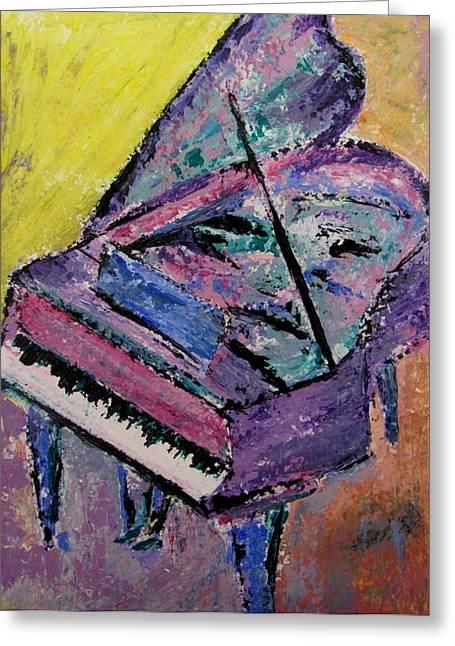 Grand Piano Greeting Cards - Piano Pink Greeting Card by Anita Burgermeister