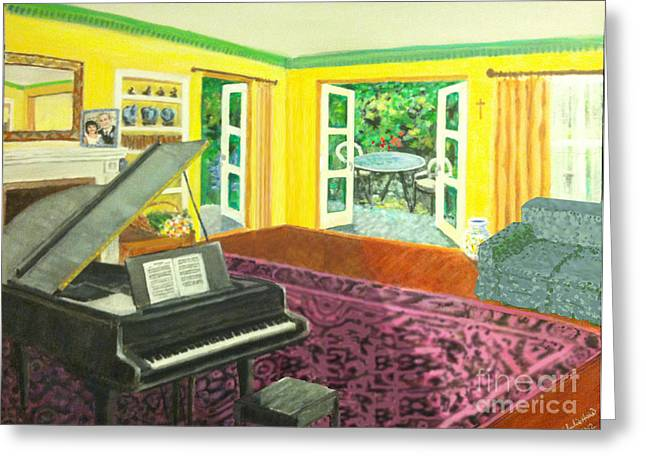 Piano Room Variation I Greeting Card by Charlie Harris