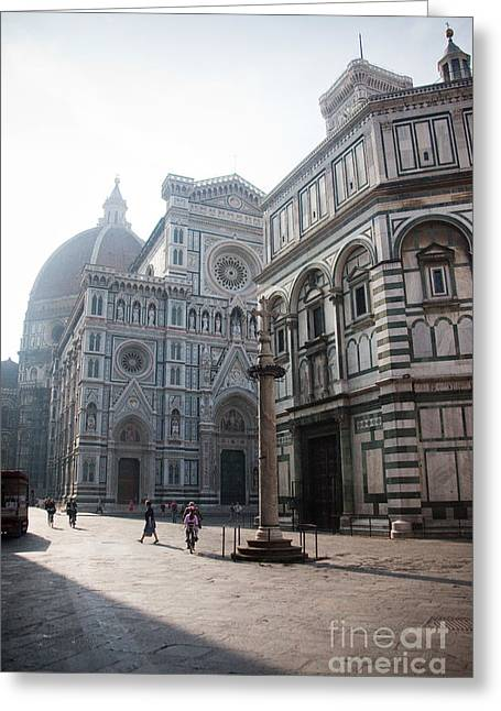 Steven Gray Greeting Cards - Piazza San Giovanni in the Morning Greeting Card by Steven Gray
