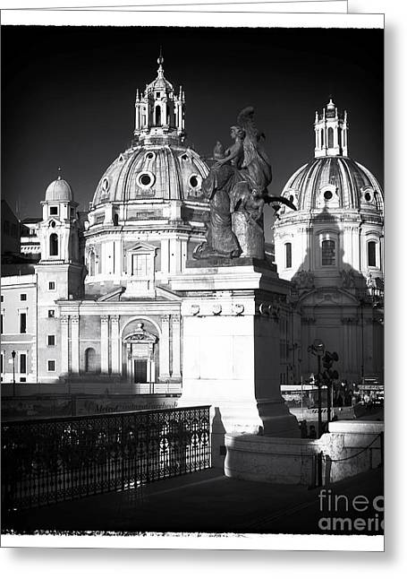 Sculpture For Sale Greeting Cards - Piazza Shadows Greeting Card by John Rizzuto