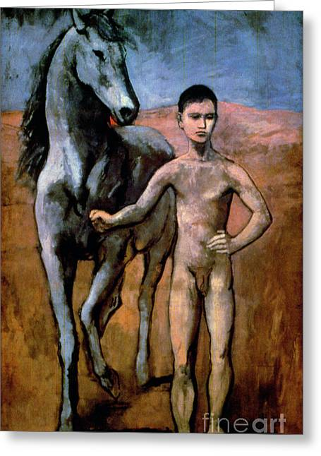 Pablo Paintings Greeting Cards - Picasso - Boy 1906 Greeting Card by Granger