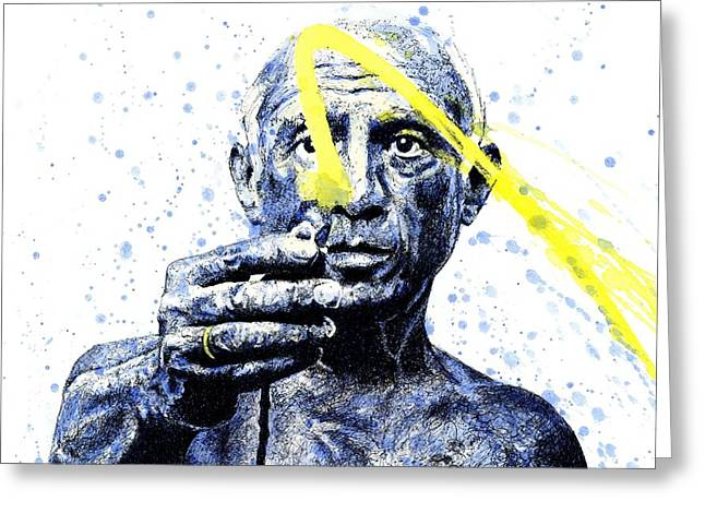 Picasso Greeting Card by Chris Mackie