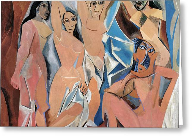 PICASSO DEMOISELLES 1907 Greeting Card by Granger