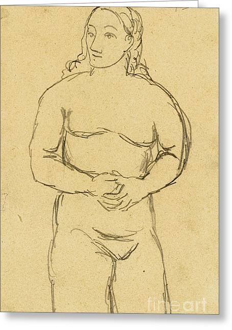 Pablo Greeting Cards - PICASSO: FEMALE NUDE, c1906 Greeting Card by Granger