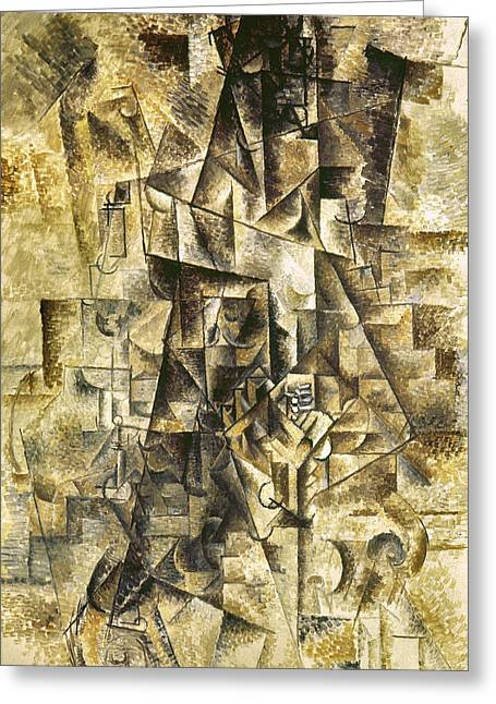 Pablo Greeting Cards - Picasso: The Accordionist Greeting Card by Granger