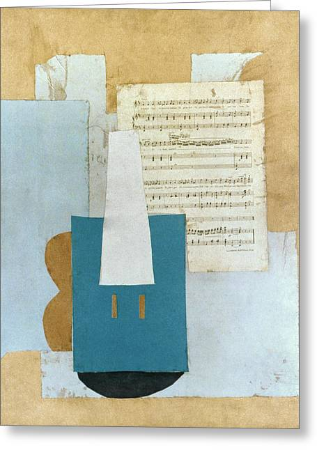 Pablo Greeting Cards - Picasso: Violin, 1912 Greeting Card by Granger