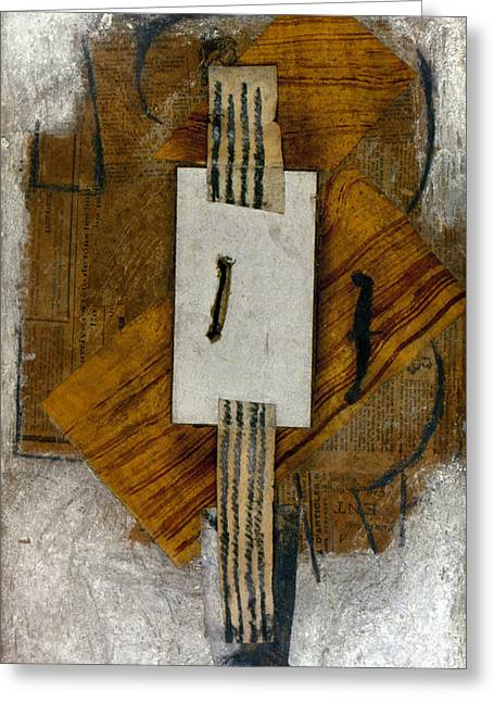 Gouache Photographs Greeting Cards - Picasso: Violin, 1913-14 Greeting Card by Granger