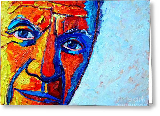 Deep Fears Greeting Cards - Picassos Look Greeting Card by Ana Maria Edulescu