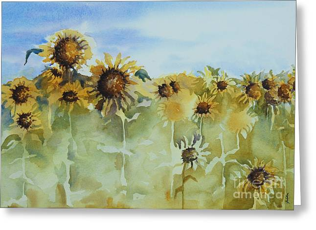 Best Sellers -  - Yellow Sunflower Greeting Cards - Pick Me Greeting Card by Gretchen Bjornson