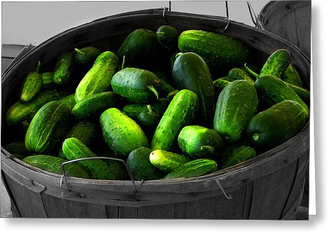 Farm Life Framed Prints Greeting Cards - Pickling Cucumbers Greeting Card by Ms Judi