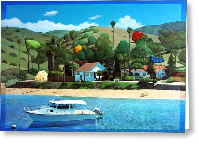 Catalina Mountains Greeting Cards - Picnic at the Isthmus Greeting Card by Snake Jagger