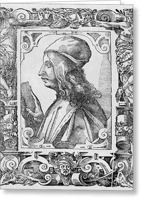 1400s Greeting Cards - Pico Della Mirandola, Italian Philosopher Greeting Card by Middle Temple Library