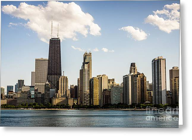 Architecture Greeting Cards - Picture of Chicago Buildings with Hancock Building Greeting Card by Paul Velgos