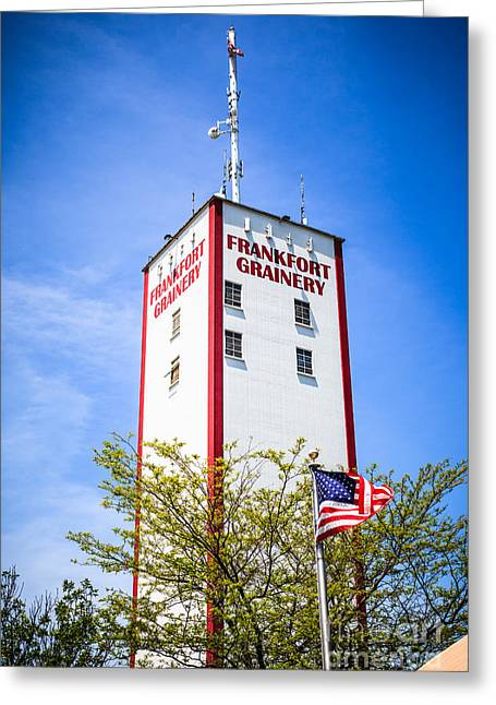 Suburb Greeting Cards - Picture of Frankfort Grainery in Frankfort Illinois Greeting Card by Paul Velgos