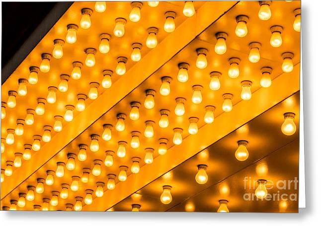Illuminated Greeting Cards - Picture of Theater Lights Greeting Card by Paul Velgos