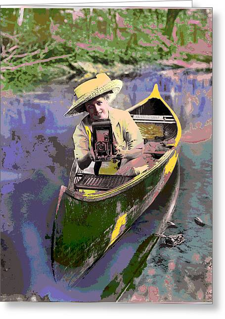 Charles River Mixed Media Greeting Cards - Picture Perfect Greeting Card by Charles Shoup