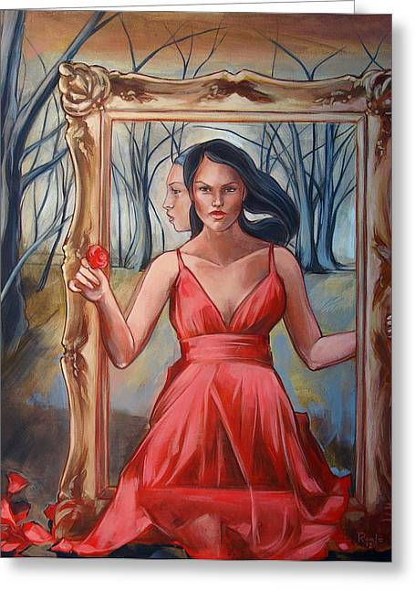 Red Dress Greeting Cards - Picture Perfect Greeting Card by Jacque Hudson