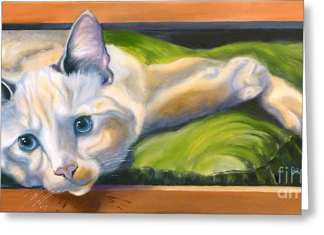Cat Drawings Greeting Cards - Picture Purrfect Greeting Card by Susan A Becker