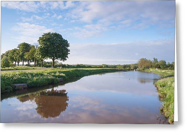 Picturesque landscape with a small river Greeting Card by Ruud Morijn