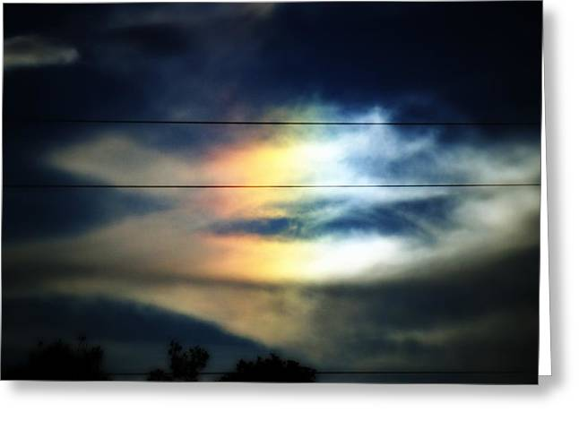 Rainbow Spots Greeting Cards - Piece of the Rainbow Greeting Card by Mandy Shupp
