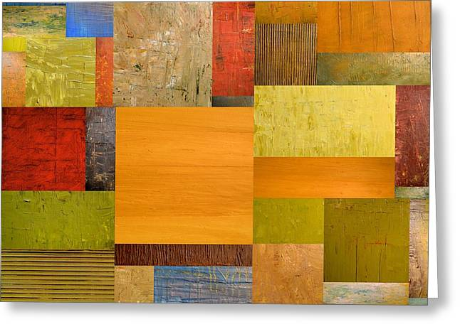 Textural Greeting Cards - Pieces Project ll Greeting Card by Michelle Calkins