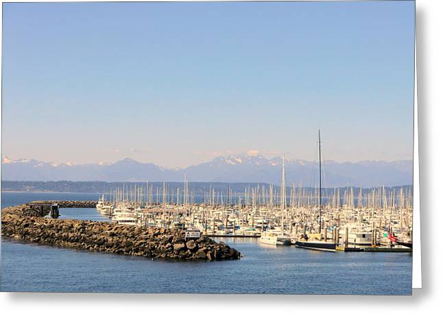 Yatch Greeting Cards - Pier 91 Seattle Washington Greeting Card by Mindy Newman