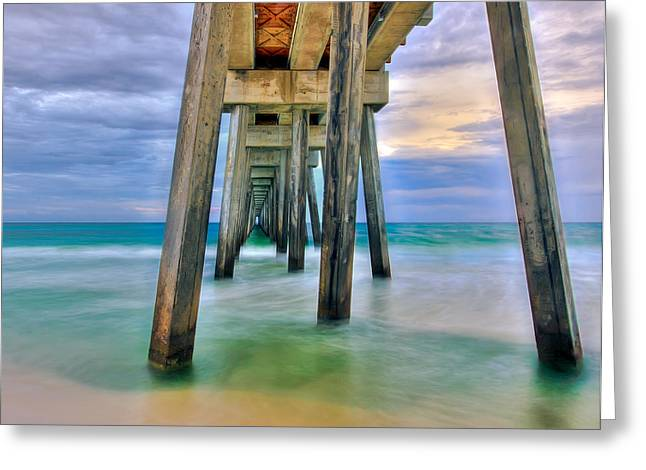 Panama City Beach Digital Greeting Cards - Pier  Greeting Card by Anna Rumiantseva