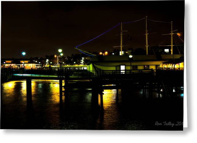 Beach At Night Greeting Cards - Pier at Night in California Greeting Card by Ronald Talley