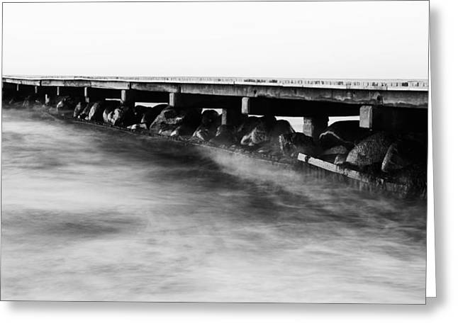 Stein Greeting Cards - Pier BW Greeting Card by Falko Follert
