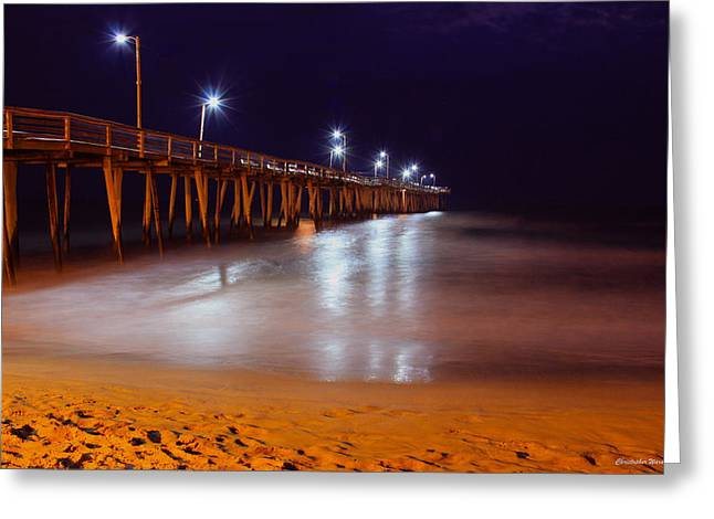 Water Framed Prints Greeting Cards - Pier  Greeting Card by Christopher  Ward