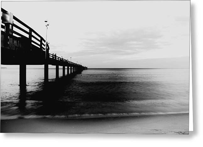 Eau Greeting Cards - Pier Greeting Card by Falko Follert
