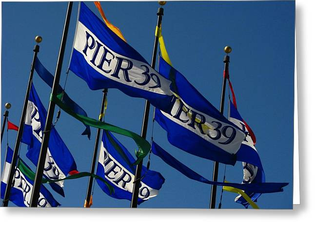 Pier 39 Greeting Cards - Pier Flags Greeting Card by Joyce Kimble Smith