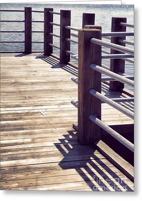 Wood Pier Greeting Cards - Pier Greeting Card by HD Connelly