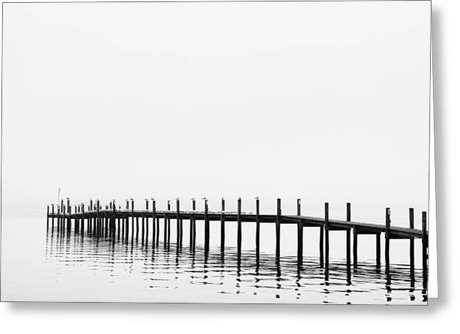Sign In Florida Photographs Greeting Cards - Pier Greeting Card by Skip Nall