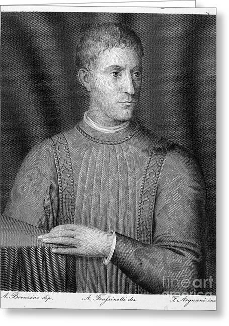 Bronzino Agnolo Greeting Cards - Piero De Medici (1414-1469) Greeting Card by Granger