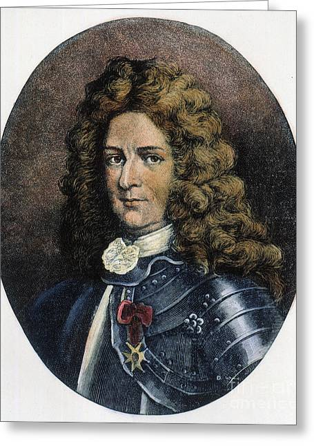 Colonists Greeting Cards - Pierre Lemoyne (1661-1706) Greeting Card by Granger