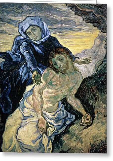 Grief Greeting Cards - Pieta Greeting Card by Vincent van Gogh