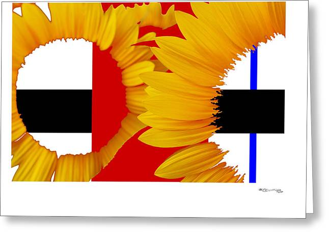 Xoanxo Cespon Greeting Cards - Piets sunflowers Greeting Card by Xoanxo Cespon