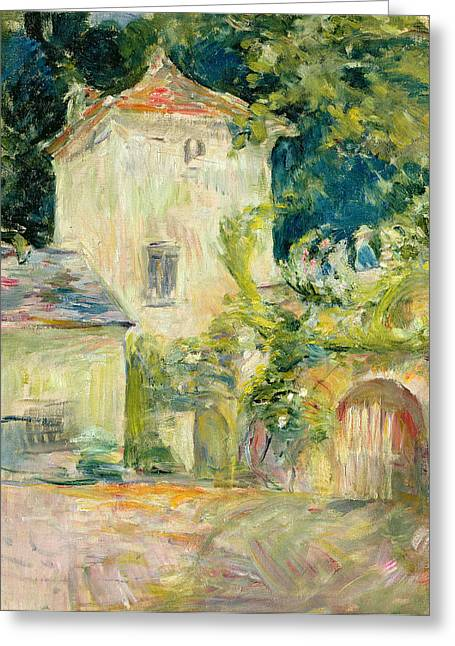 Pigeons Greeting Cards - Pigeon Loft at the Chateau du Mesnil Greeting Card by Berthe Morisot