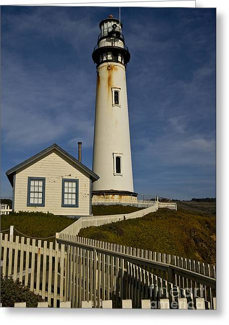 Pigeon Point Light Station Greeting Cards - Pigeon Point Light Station Greeting Card by Katja Zuske