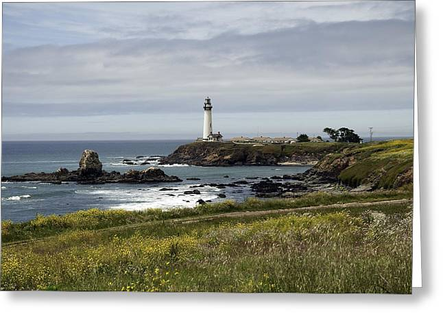 Us1 Greeting Cards - Pigeon Point Light Station Greeting Card by Paul Plaine